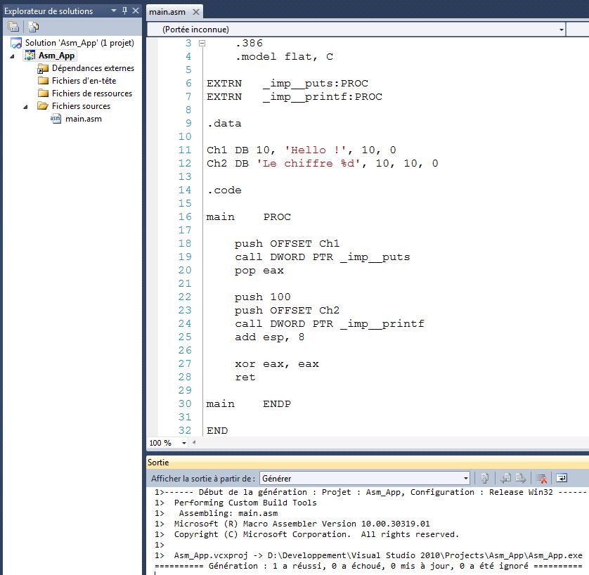 Apprendre à programmer en Assembleur avec Visual C++